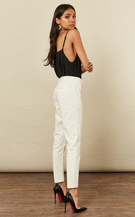 Cream Tailored Trousers by VM