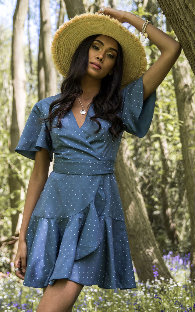 vanish mini dress in teal by Finders Keepers