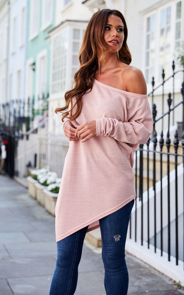 Pink Asymmetric Hem Top by Bella and Blue