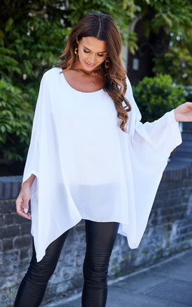 White Batwing Top by Bella and Blue Product photo