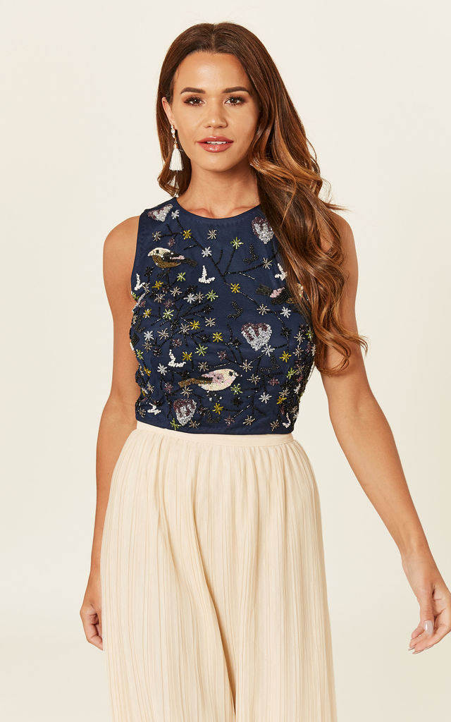 Pancy Top in Navy by Lace & Beads