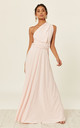 ALEXIS BLUSH multi way maxi bridesmaid dress by Revie London