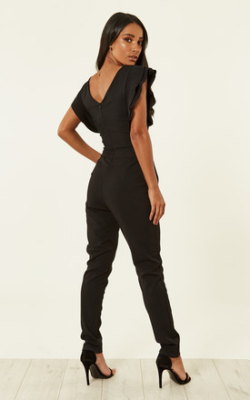 SADIE FLUTTER SLEEVE JUMPSUIT by WalG