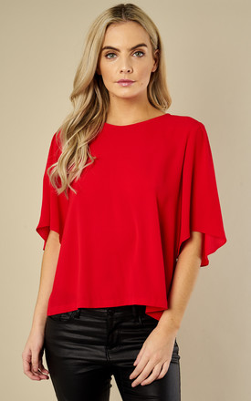 Short Sleeved Whisper Top In Red by Traffic People Product photo