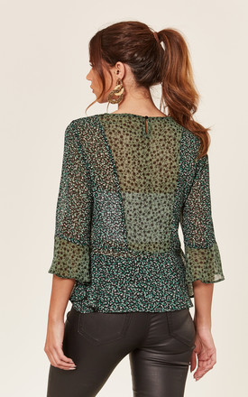 Bell Sleeve Green Blouse by Store WF