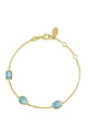 Venice Bracelet Gold Blue Topaz by Latelita London