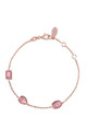 Venice Bracelet Rose gold Pink Tourmaline by Latelita London