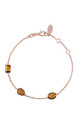 Venice Bracelet Rose gold Smokey Quartz by Latelita London