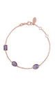 Venice Bracelet Rose gold Amethyst by Latelita