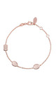 Venice Bracelet Rose gold Rose Quartz by Latelita