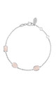 Venice Bracelet Silver Rose Quartz by Latelita London