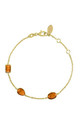 Venice Bracelet Gold Citrine by Latelita London