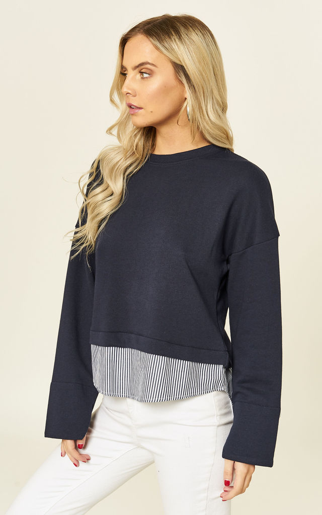 Amour Navy Sweatshirt by B. W. G.