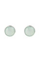Medium Circle Stud Silver Aqua Chalcedony by Latelita