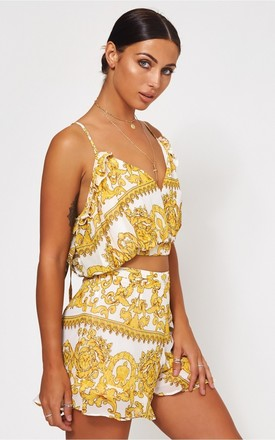 Firenza White & Gold Baroque Co-ord by The Fashion Bible