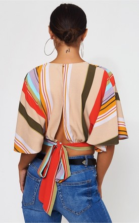 Lola Beige Stripe Blouse by The Fashion Bible