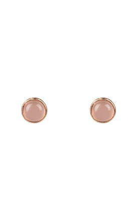 Petite Stud Earring Rose Gold Rose Quartz by Latelita Product photo