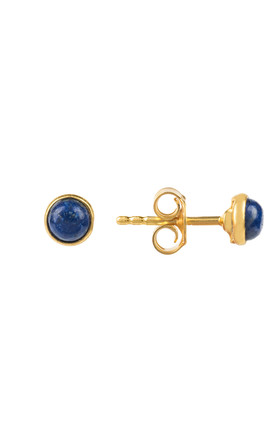 Petite Stud Gold Lapis Lazuli by Latelita London