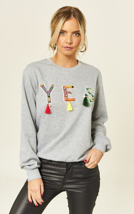 Yes, yes, yes! Grey Statement Tassel Sweater by B. W. G.