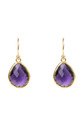 Gold Petite Drop Earring Amethyst Hydro by Latelita