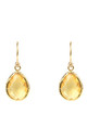 Gold Petite Drop Earring Citrine Hydro by Latelita