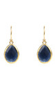 Gold Petite Drop Earring Sapphire Hydro by Latelita London