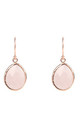 Petite Drop Rose Gold Earrings in Rose Quartz by Latelita
