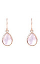 Rose gold Petite Drop Earring Rose Quartz Hydro Hydro by Latelita
