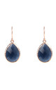Rose gold Petite Drop Earring Sapphire Hydro by Latelita London