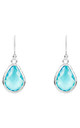 Silver Petite Drop Earring Blue Topaz Hydro by Latelita London