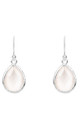 Silver Petite Drop Earring Rose Quartz Hydro by Latelita