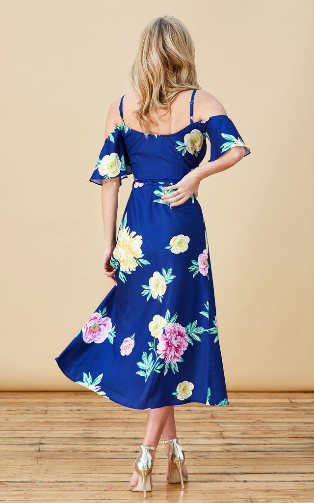 IVY DRESS IN NAVY PEONY PRINT by Dancing Leopard