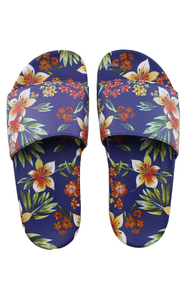 6c7f50075b6008 Wahiki All Over Floral Women s Slider Sandals by Slydes Footwear
