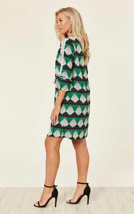 Geometric Print Midi Dress by DIVINE GRACE