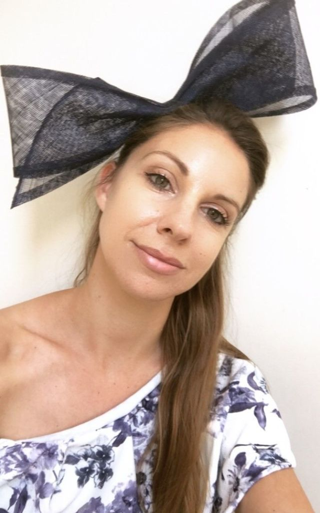 ... Navy blue bow fascinator by TwisT Fashion ... 6a24857fa4e