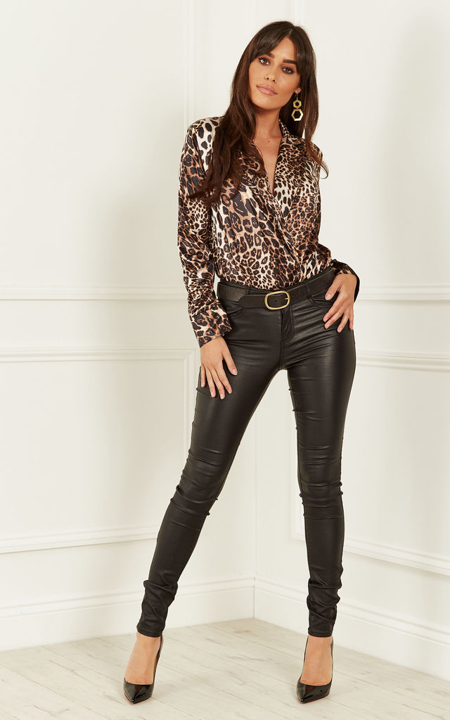 Leopard Print Bodysuit by Bella and Blue