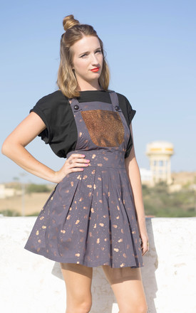 Sophie Pineapple Print Metallic Pinafore Dress With Copper Pockets by Krissyfied Boutique Product photo