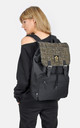Gold Tweed panel laptop backpack by The Left Bank