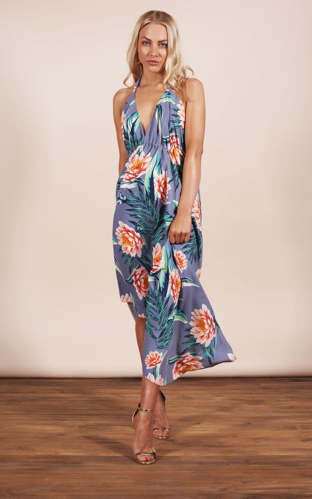 BOHO MAXI IN GREY LOTUS TROPICAL image
