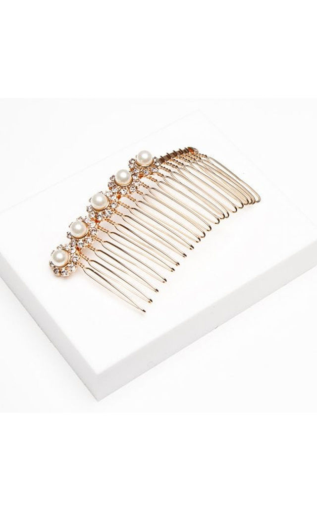 Pearl & Sparkle Hair Comb by Johnny Loves Rosie