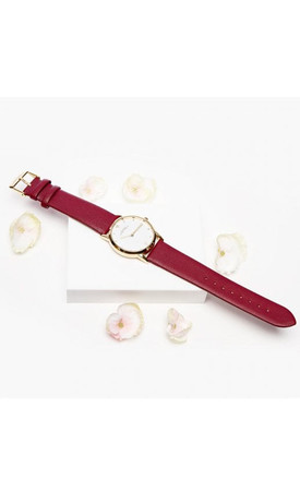 Alice Burgundy Watch by Johnny Loves Rosie