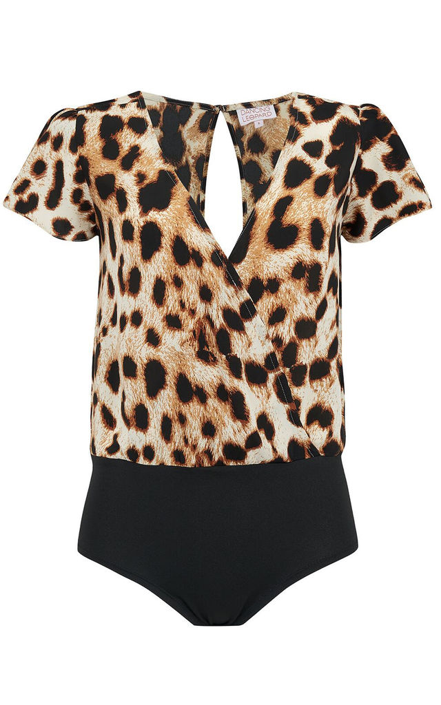 IMARA BODYSUIT IN NATURAL LEOPARD image