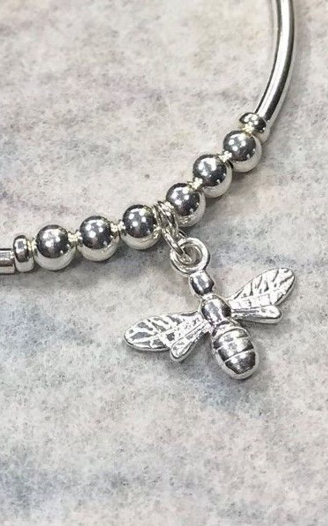 Sterling Silver, Bee Charm Bracelet by DarcyRose Jewellery