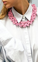 Ten Knots Chunky Necklace in Dusky Pink by U . Urska Hvalica