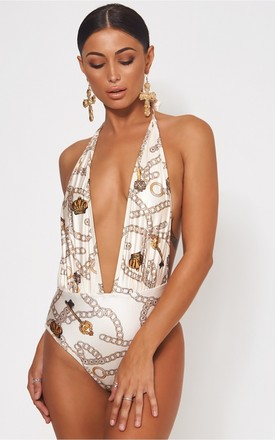 Limited Edition Chain Print Swimsuit by The Fashion Bible