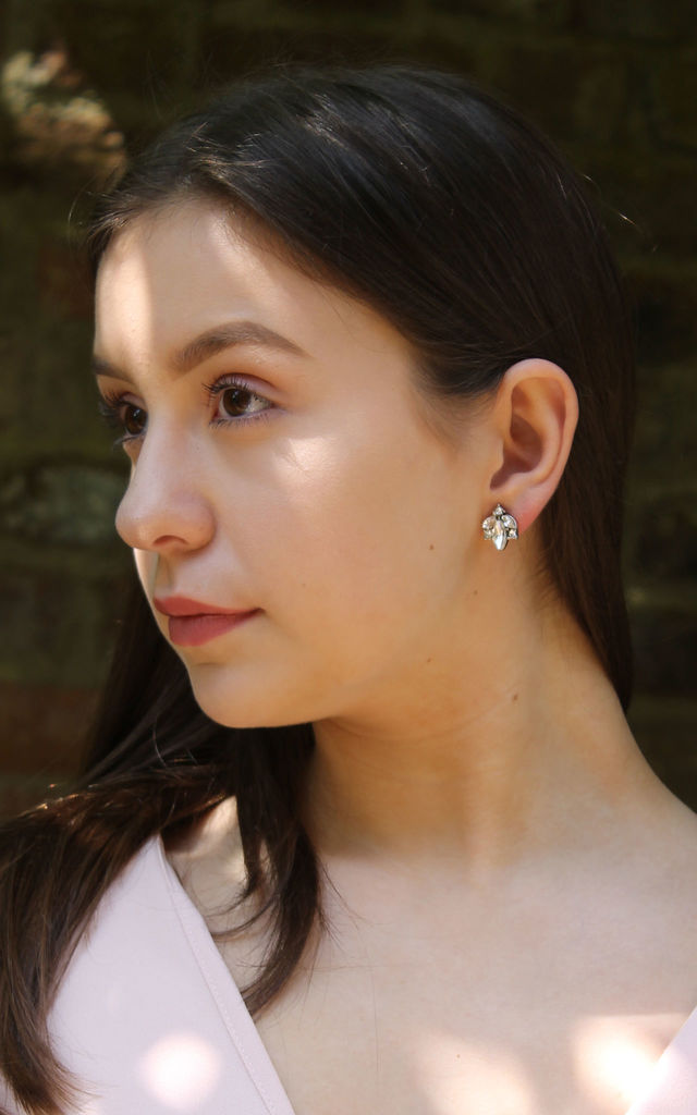 Crystal Cluster Earring in Silver by LAST TRUE ANGEL
