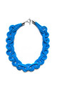 Ten Knots Chunky Necklace in Royal Blue by U . Urska Hvalica