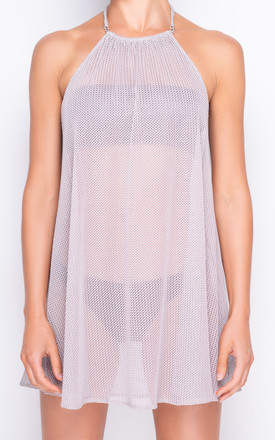 Valentina Luxe Knit Champagne Beach Cover Up by AQUALUXE Product photo