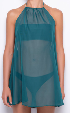 Valentina Emerald Green Beach Cover Up by AQUALUXE Product photo