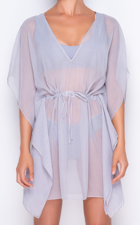 Azure Light Grey Kaftan by AQUALUXE Product photo
